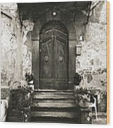 Barga Door Wood Print
