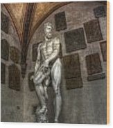 Giambologna's Oceano Wood Print
