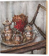 Barista - Tea Set - Morning Tea  Wood Print