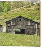 Barn - Tire Center Wood Print