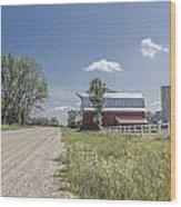 Barn And Dirt Road Wood Print