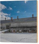 Barn At Amhi   7k00315 Wood Print by Guy Whiteley