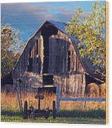Barn At Ash Flat Arkansas Wood Print
