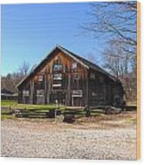 Barn At Billie Creek Village Wood Print