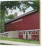 Barn At Greene Valley Wood Print