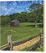 Barn At Hartwood Acres Under Beautiful Sky Wood Print