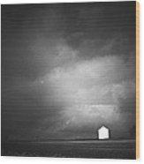 Barn Before The Thunderstorm Lancaster County Pennsylvania Wood Print