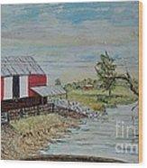 Barn Beside Cooks Creek 2 - Sold Wood Print