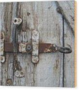 Barn Door Handle Wood Print
