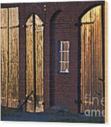 Barn Door Lighting Wood Print