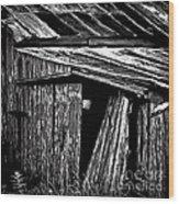 Barn Doors Wood Print by Walt Foegelle