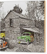 Barn Finds Classic Cars Wood Print by Jack Pumphrey