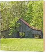 Barn From The Forgotten Farm Wood Print