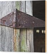 Barn Hinge 1 Wood Print
