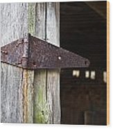 Barn Hinge 2 Wood Print