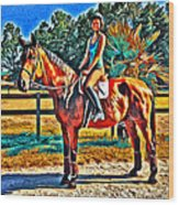Barn Horse Two Wood Print
