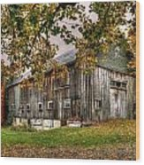 Barn House Wood Print
