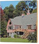 Barn House Wood Print