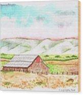 Barn In Cambria - California Wood Print by Carlos G Groppa