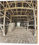 Barn Interior Wood Print