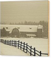 Barn Lake Placid N Y Wood Print