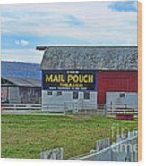 Barn - Mail Pouch Tobacco Wood Print