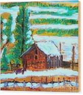 Barn Near Loa Utah 1 Wood Print by Richard W Linford