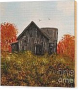 Barn Old Rusted And Deserted Wood Print