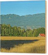 Barn On Cascade Road In Rockport Wood Print