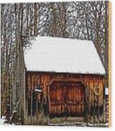 Barn On Great Hill Road Wood Print