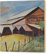 Barn On Rt. 42 Wood Print