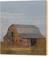 Barn On The Prairie Wood Print