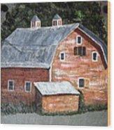Barn On Va Creeper Trail Wood Print