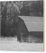 Barn Out West Wood Print