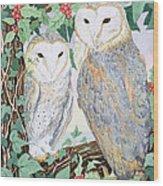 Barn Owls Wood Print