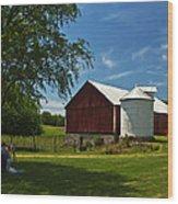 Barn Painting Wood Print
