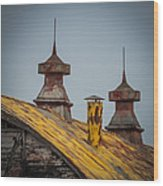 Barn Roof In Color Wood Print