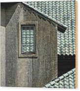 Barn Roofs At The Crane Estate Wood Print