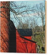 Barn Shadows Wood Print