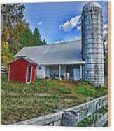 Barn - The Old Horse Wood Print