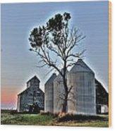 Barn Tree Wood Print
