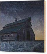 Barn V Wood Print