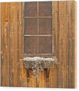Barn Window 3348 Wood Print