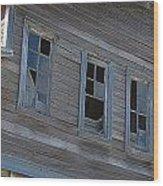 Barn Windows Wood Print