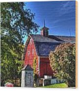 Barn With Out-sheds Brunner Family Farm Wood Print