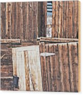 Barn Wood Wood Print