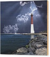 Barnegat Inlet Lighthouse Nj Wood Print