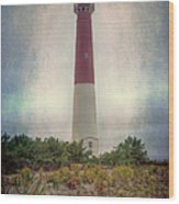 Barnegat Lighthouse Dawn Wood Print