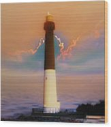 Barnegat Lighthouse In New Jersey Wood Print