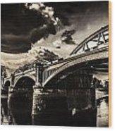 Barnes Rail Bridge Wood Print
